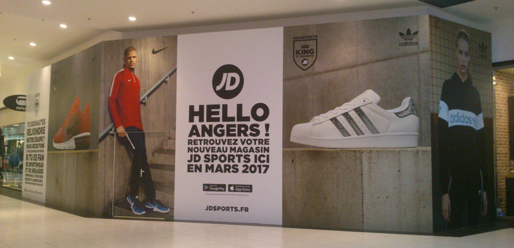 PALISSADE JD SPORTS Centre commercial Espace Anjou (49)