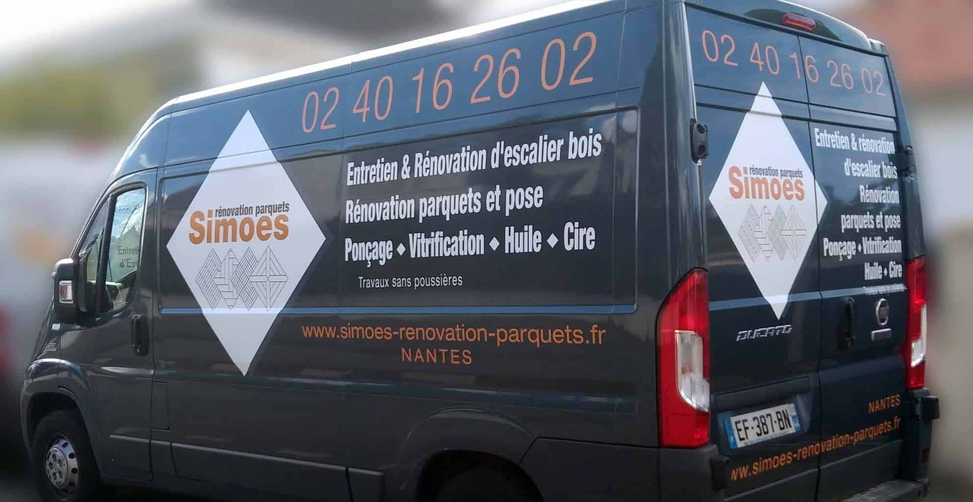 STICKAGE véhicule entreprise SIMOES Nantes nord