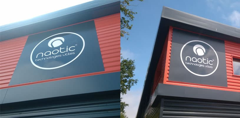 Pose de panneaux ronds NAOTIC sur bardage à Orvault