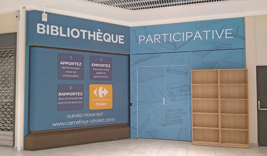 Stickage palissade Bibliothèque Participative – CC Carrefour Cholet