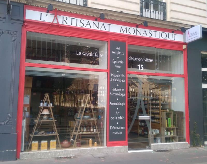 Devanture pour Artisanat Monastique à Nantes